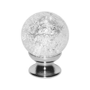 Murano Knob Silver
