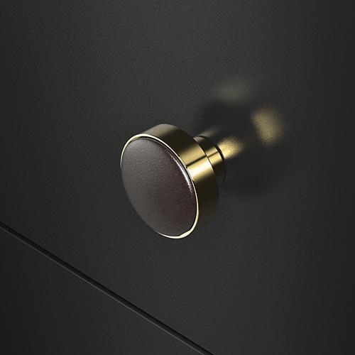 Leather Knob 30 TdM gold
